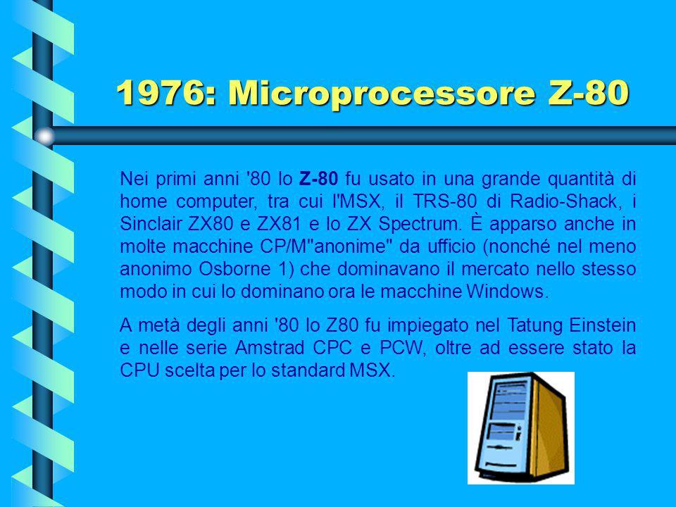 1976: Microprocessore Z-80
