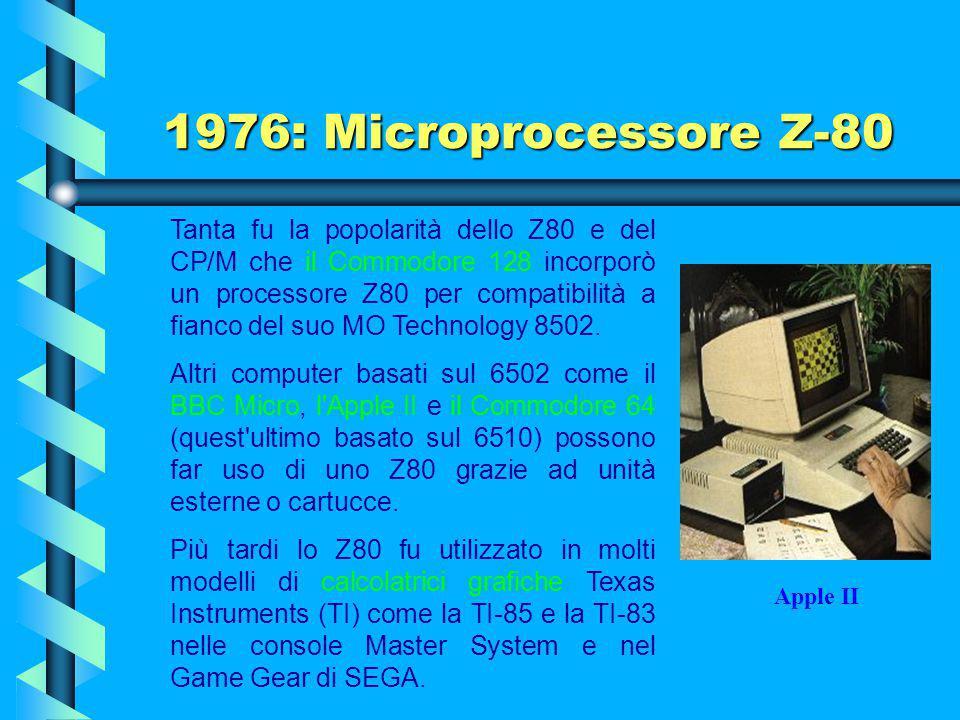 Nei primi anni '80 lo Z-80 fu usato in una grande quantità di home computer, tra cui l'MSX, il TRS-80 di Radio-Shack, i Sinclair ZX80 e ZX81 e lo ZX S