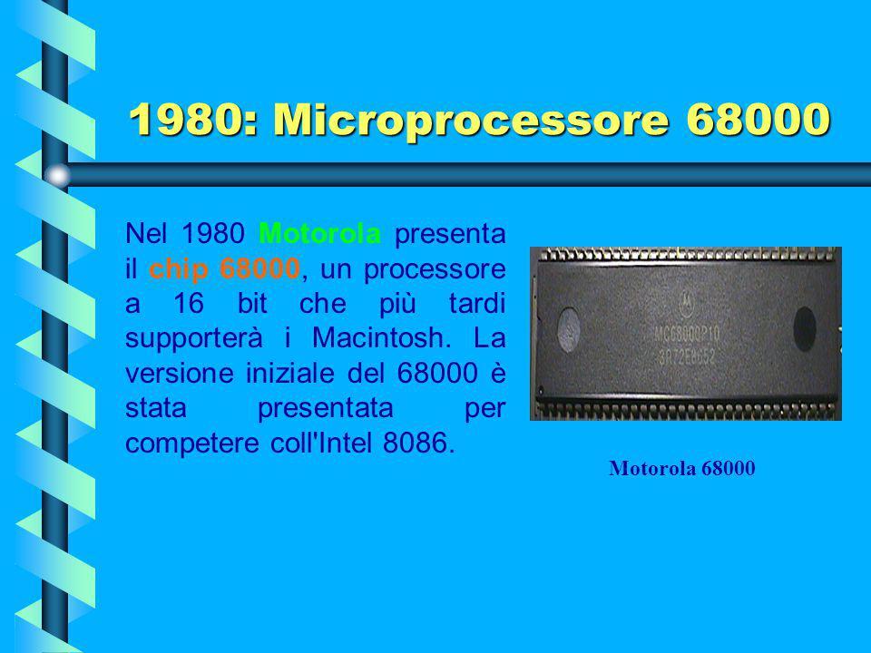 1979: Microprocessore 8088 Limiti Le limitazioni di un processore a 8 bit erano del resto chiarissime, non potendo questo gestire, se non con innatura