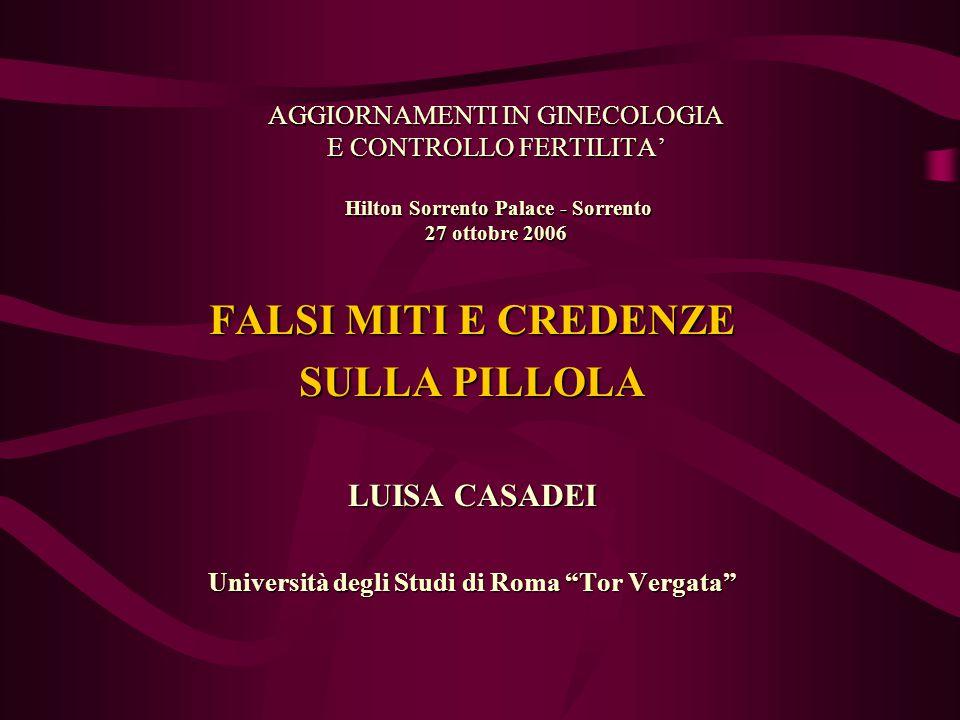CO E RISCHIO RELATIVO DI DISPLASIA E CARCINOMA DELLA CERVICE ANNI USO 0 2468 10 121410 1 O.