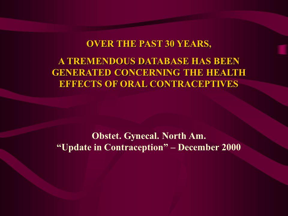 Contraccezione Estroprogestinica e rischio di Carcinoma mammario Le donne che assumono contraccettivi orali contenenti più di 35 microg di EE2 sono a più alto rischio di Ca mammario rispetto alle donne che assumono contraccettivi a più basso dosaggio e tale relazione è più marcata nelle donne di età inferiore ai 35 aaLe donne che assumono contraccettivi orali contenenti più di 35 microg di EE2 sono a più alto rischio di Ca mammario rispetto alle donne che assumono contraccettivi a più basso dosaggio e tale relazione è più marcata nelle donne di età inferiore ai 35 aa (RR:3.62 vs 1.91) (RR:3.62 vs 1.91) Le nuove associazioni a minor potenza e a più basso dosaggio EP comportano un minor rischio diLe nuove associazioni a minor potenza e a più basso dosaggio EP comportano un minor rischio di Cancro mammario Althuis et al., 2003