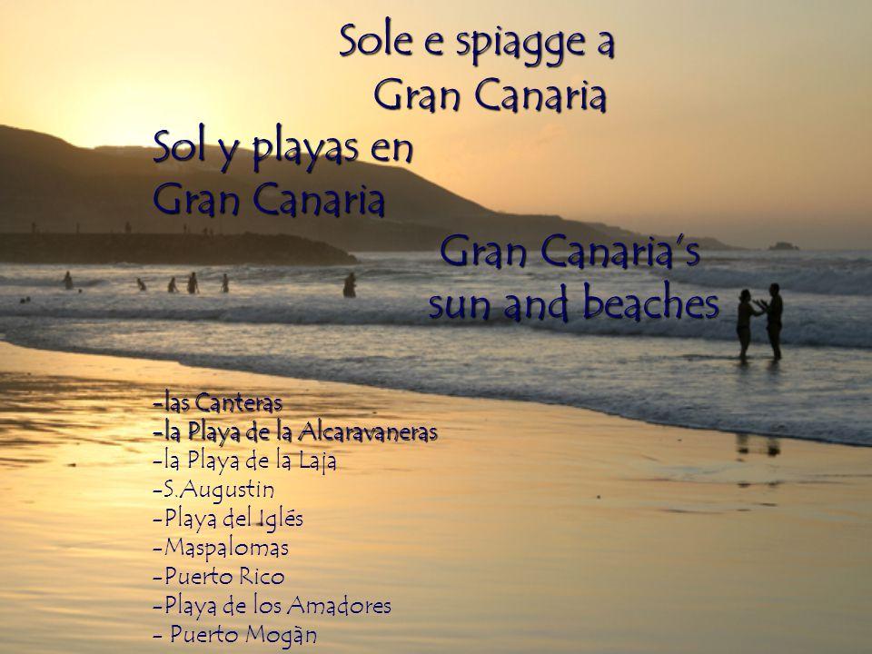 Sole e spiagge a Gran Canaria Sol y playas en Gran Canaria Gran Canaria's sun and beaches -las Canteras -la Playa de la Alcaravaneras -la Playa de la Laja -S.Augustin -Playa del Iglés -Maspalomas -Puerto Rico -Playa de los Amadores - Puerto Mogàn