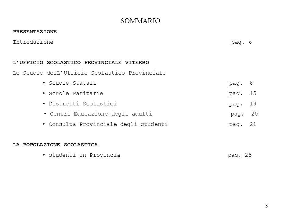 4 L'ORGANIZZAZIONE DELL'UFFICIO SCOLASTICO PROVINCIALE organigramma pag.