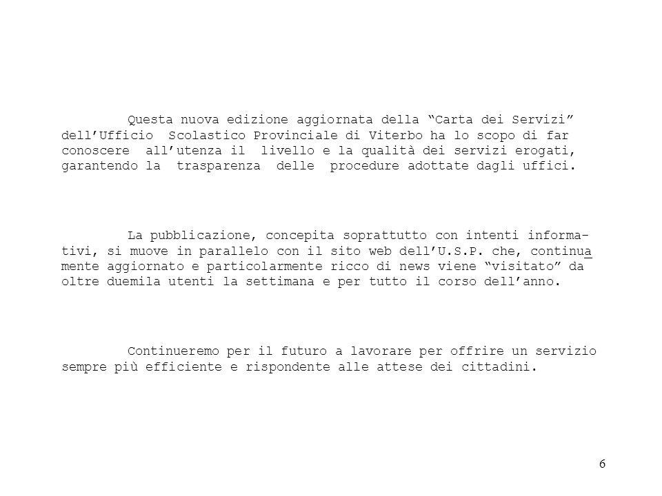 7 Le Scuole Dell'Ufficio Scolastico Provinciale di Viterbo