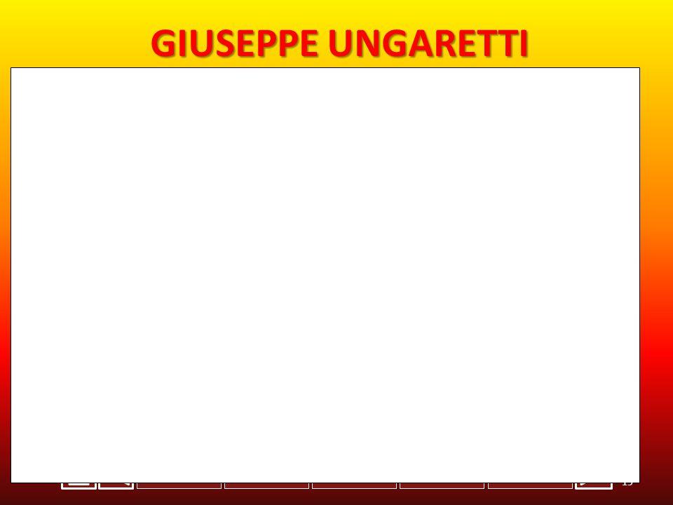 INGLESESTORIABIOLOGIAITALIANOFISICA GIUSEPPE UNGARETTI -Giuseppe Ungaretti nasce l 8 febbraio 1888 ad Alessandria d Egitto.