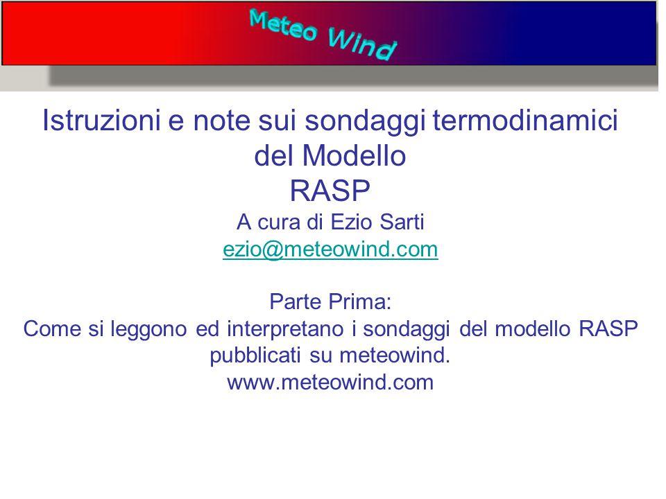 Questo è un esempio di un sondaggio termodinamico Tratto dal sito www.meteowind.comwww.meteowind.com Italia centrale su googlemaps Sondaggio previsto a 55 ore su Rieti per il giorno 7 Marzo ore 13.00 UTC Come scaricare un sondaggio dal sito per lavorarci più comodamente: 1) Andare sulla relativa pagina dei sondaggi.