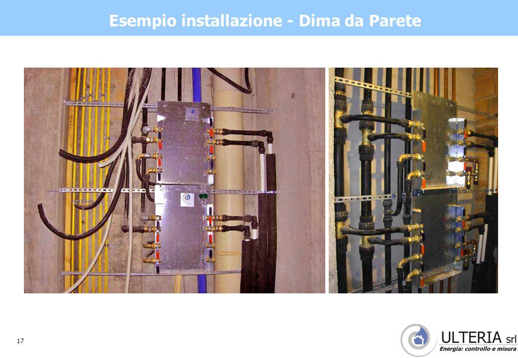 17 Esempio installazione - Dima da Parete