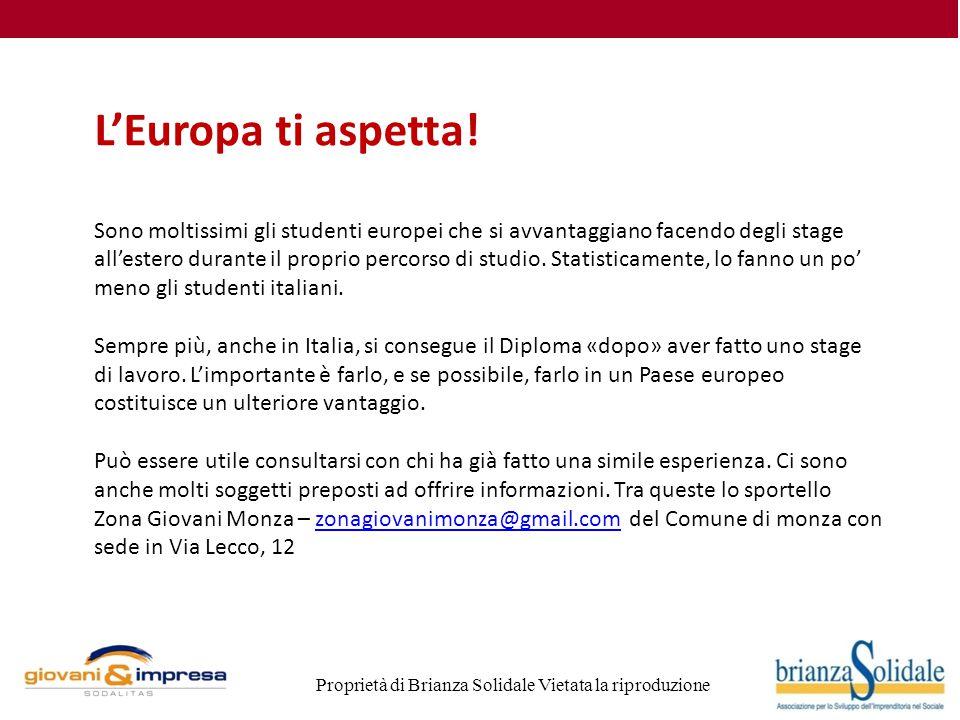 Proprietà di Brianza Solidale Vietata la riproduzione L'Europa ti aspetta.
