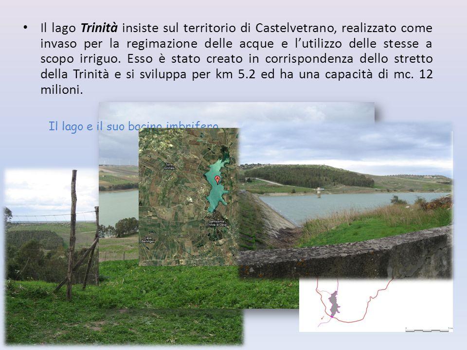 Il lago Trinità insiste sul territorio di Castelvetrano, realizzato come invaso per la regimazione delle acque e l'utilizzo delle stesse a scopo irrig