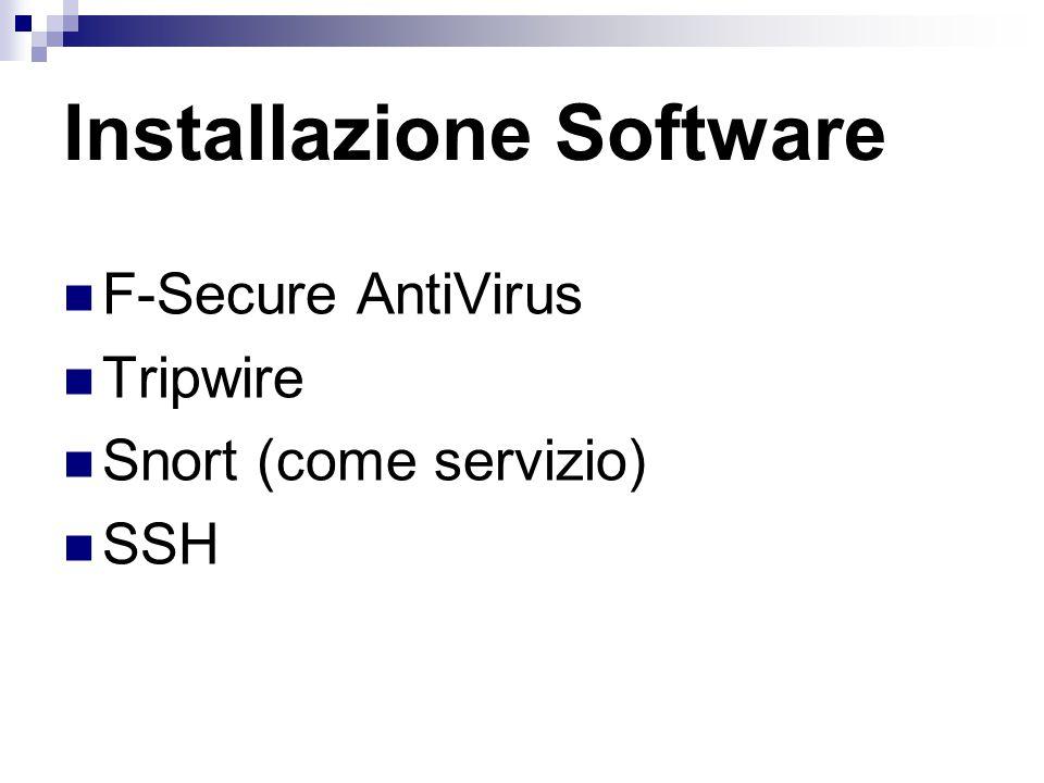 Configurazione Software
