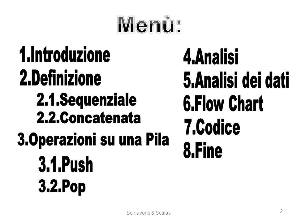 Schiavone & Scalas 13 Flow Chart Menù