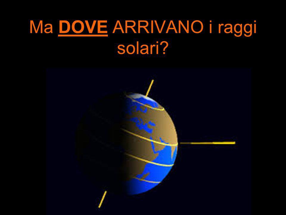 Ma DOVE ARRIVANO i raggi solari?