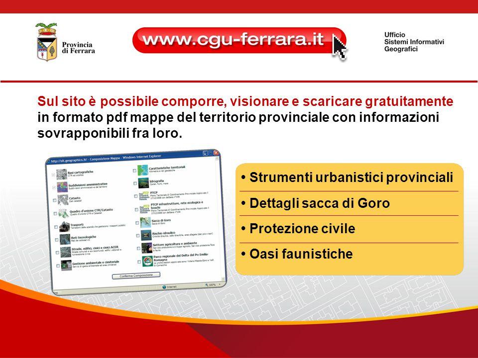 Registrati per consultare le informazioni cartografiche presenti sul sito