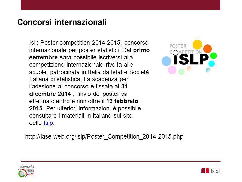 Concorsi internazionali Islp Poster competition 2014-2015, concorso internazionale per poster statistici.