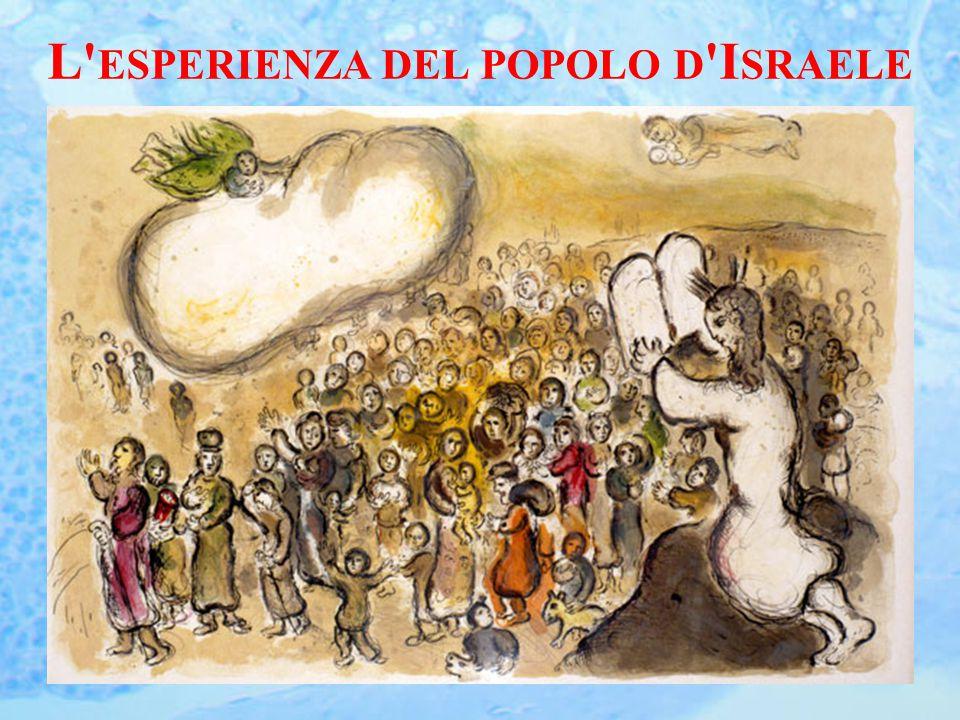 L ESPERIENZA DEL POPOLO D I SRAELE