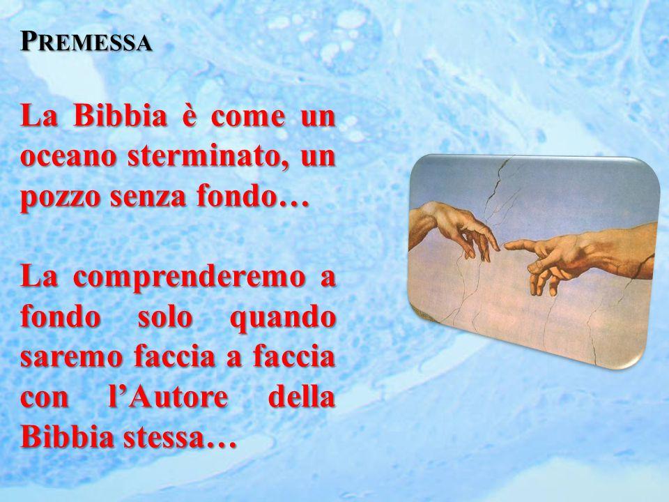 P REMESSA La Bibbia è come un oceano sterminato, un pozzo senza fondo… La comprenderemo a fondo solo quando saremo faccia a faccia con l'Autore della Bibbia stessa…