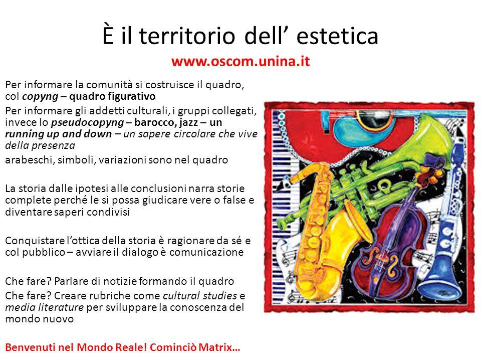 È il territorio dell' estetica www.oscom.unina.it Per informare la comunità si costruisce il quadro, col copyng – quadro figurativo Per informare gli