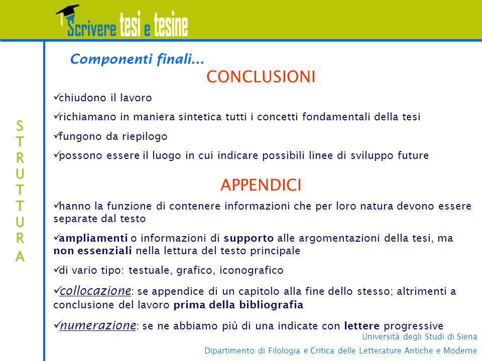 Università degli Studi di Siena Dipartimento di Filologia e Critica delle Letterature Antiche e Moderne STRUTTURASTRUTTURASTRUTTURASTRUTTURA Component