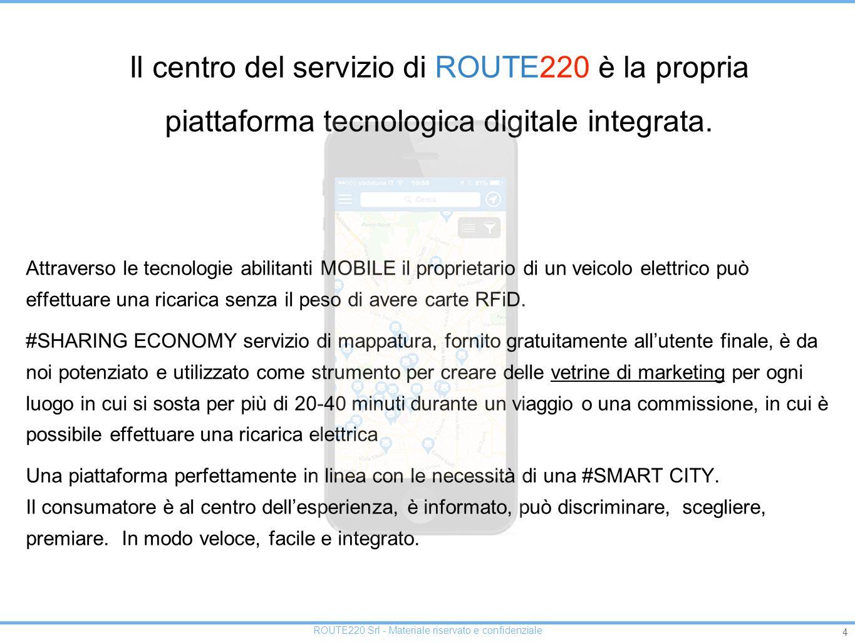 Il centro del servizio di ROUTE220 è la propria piattaforma tecnologica digitale integrata.