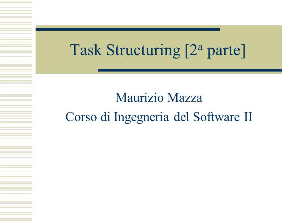 Task Structuring [2 a parte] Maurizio Mazza Corso di Ingegneria del Software II