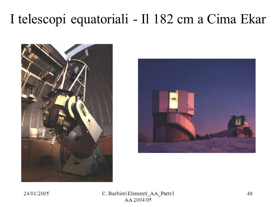 24/01/2005C. Barbieri Elementi_AA_Parte I AA 2004/05 46 I telescopi equatoriali - Il 182 cm a Cima Ekar