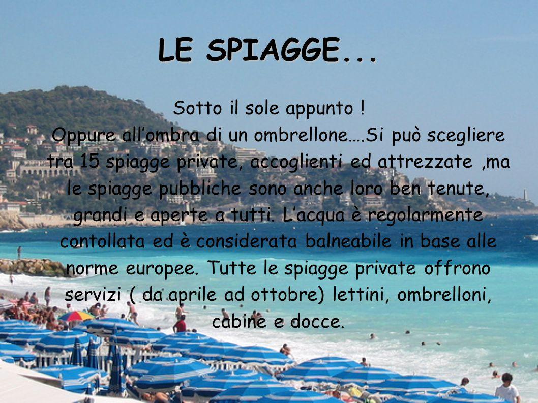 LE SPIAGGE... Sotto il sole appunto ! Oppure all'ombra di un ombrellone….Si può scegliere tra 15 spiagge private, accoglienti ed attrezzate,ma le spia