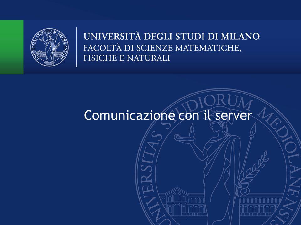Comunicazione con il server