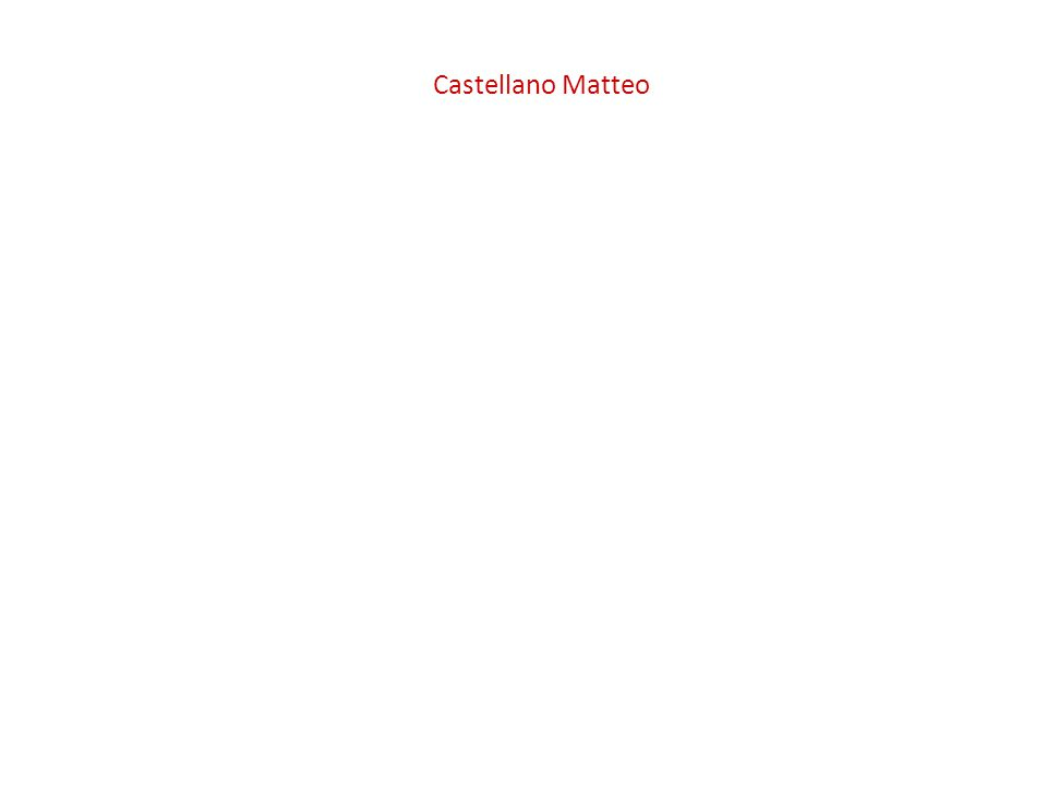 Castellano Matteo