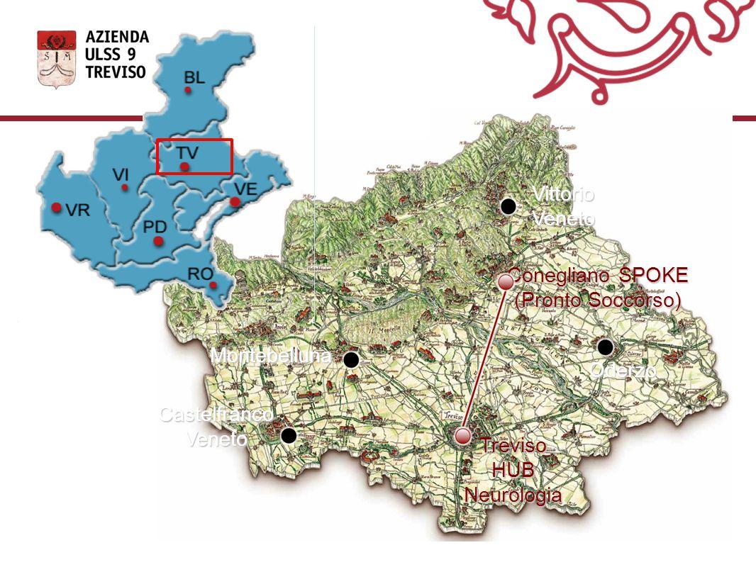 Conegliano SPOKE (Pronto Soccorso) Oderzo Montebelluna CastelfrancoVeneto VittorioVeneto Treviso HUB Neurologia