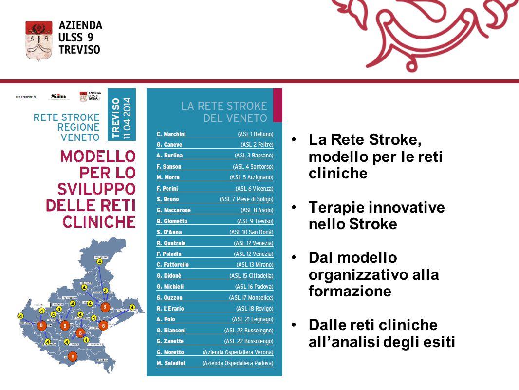 La Rete Stroke, modello per le reti cliniche Terapie innovative nello Stroke Dal modello organizzativo alla formazione Dalle reti cliniche all'analisi degli esiti