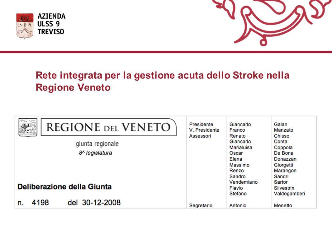 Rete integrata per la gestione acuta dello Stroke nella Regione Veneto