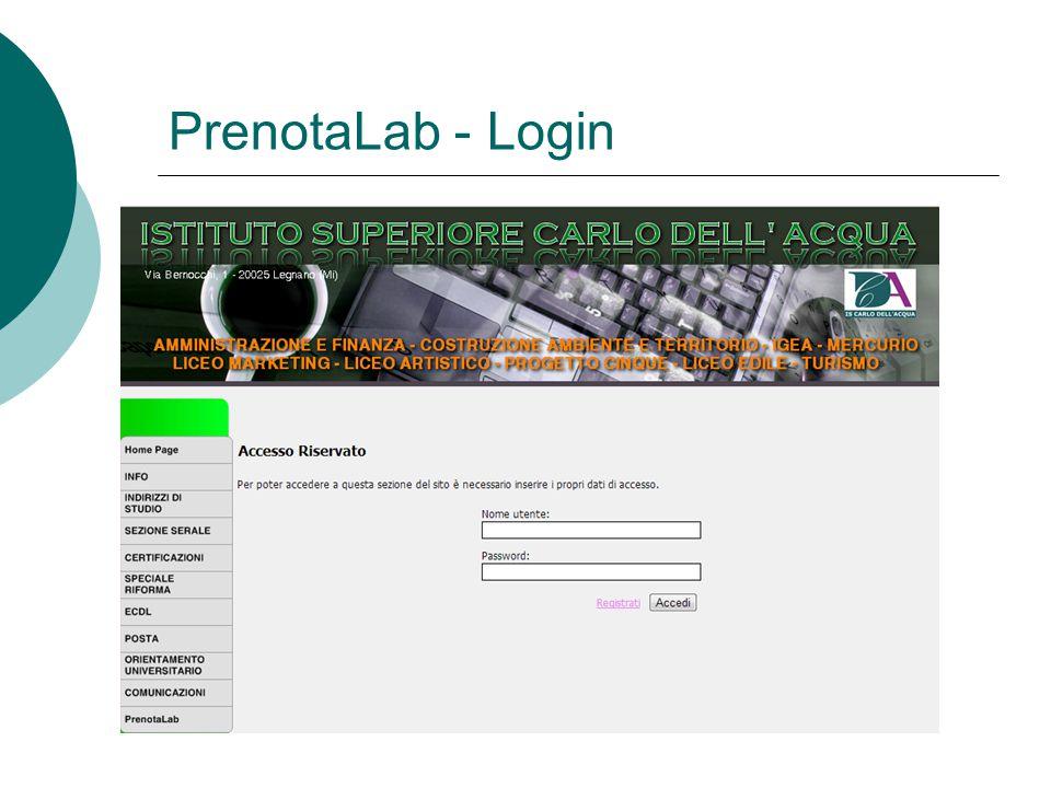 PrenotaLab - Login