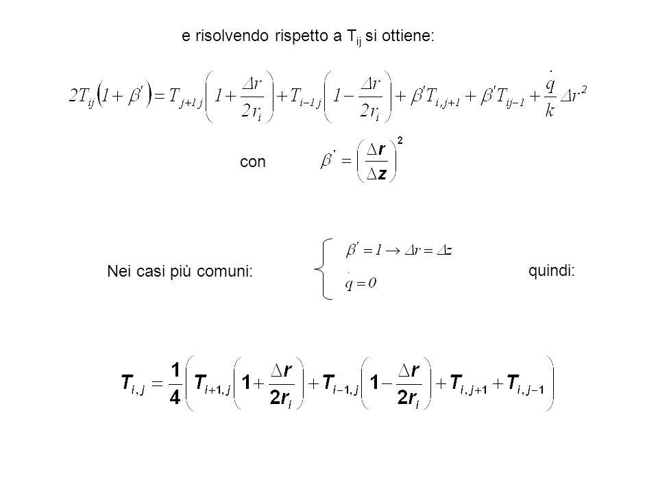 Nei casi più comuni: quindi: con e risolvendo rispetto a T ij si ottiene: