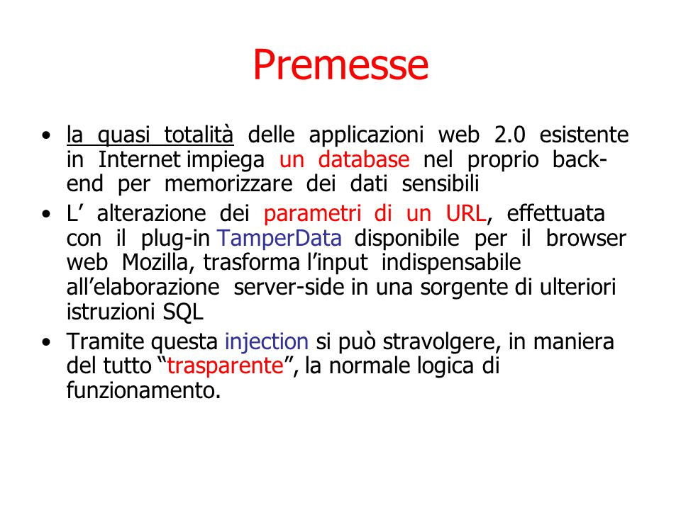 La sintasi OPENROWSET ( { 'provider_name', { 'datasource' ; 'user_id' ; 'password' | 'provider_string' }, { [ catalog.