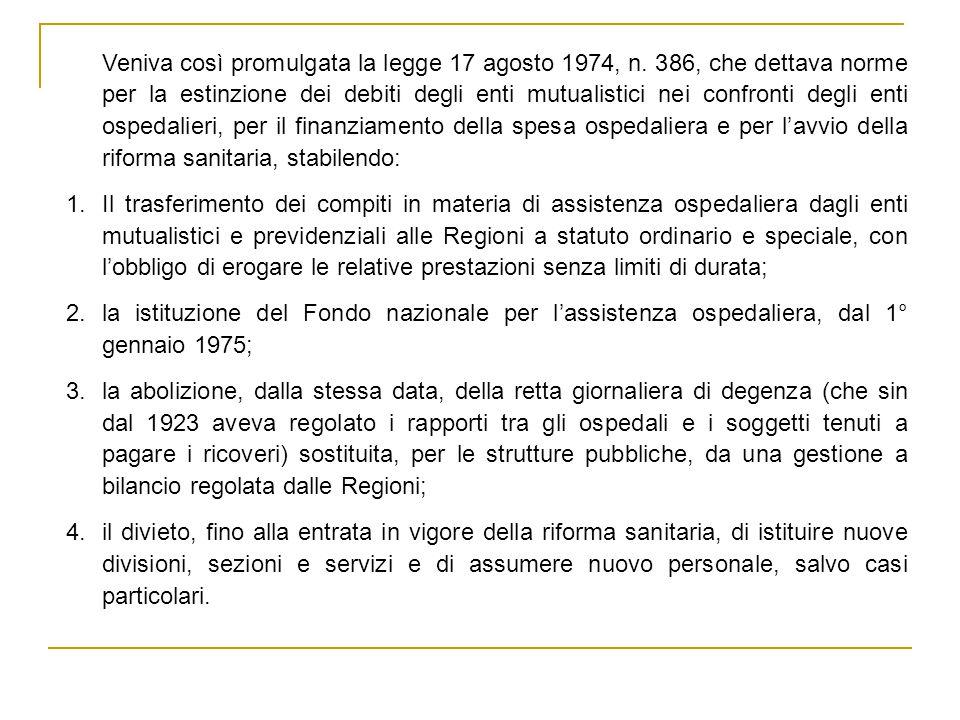 Conclusioni Tra il 1975 e il 1994 vi è stata una riduzione di 231.861 posti letto (-39,4%); tra il 1995 e il 2003 vi è stata una ulteriore diminuzione di 88.278 posti letto (-24,8%); A partire dal 1995 la remunerazione dei casi di ricovero ospedaliero secondo tariffe predeterminate nel settore per acuti e per giornata di degenza nella riabilitazione e nella lungodegenza ha avuto effetti positivi, diretti e indiretti, sulla organizzazione e sul funzionamento della assistenza ospedaliera, oltre che in termini conoscitivi sul volume e la tipologia delle patologie trattate.