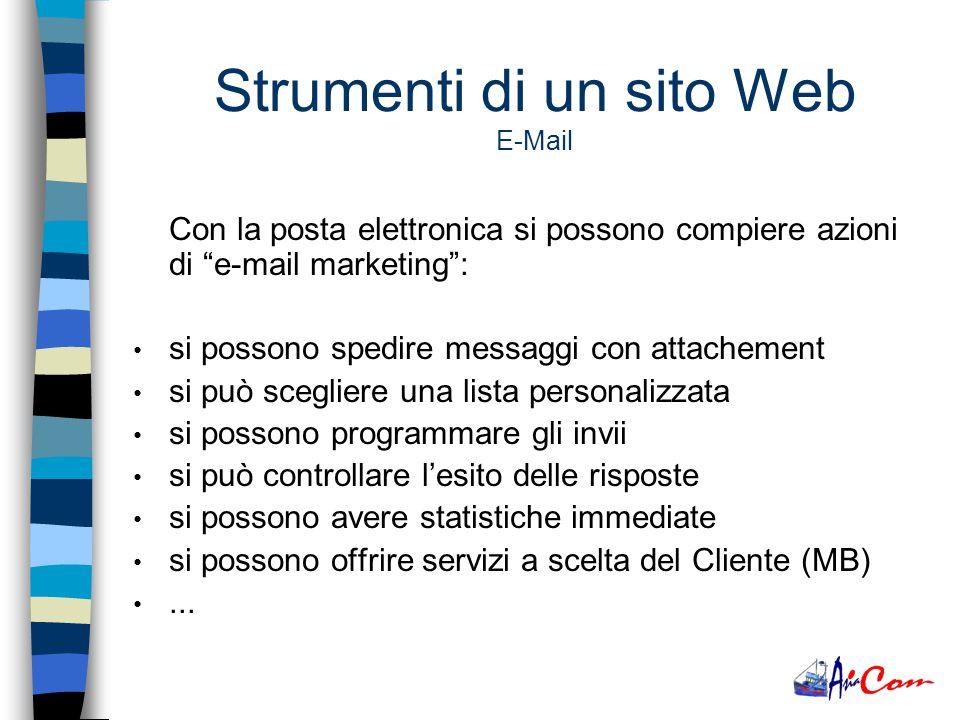La posta elettronica ha sostituito il fax perché: è più economica è più veloce è più semplice da usare è personale è utilizzabile da molteplici dispositivi è consultabile da ogni parte del mondo … Strumenti di un sito Web E-Mail