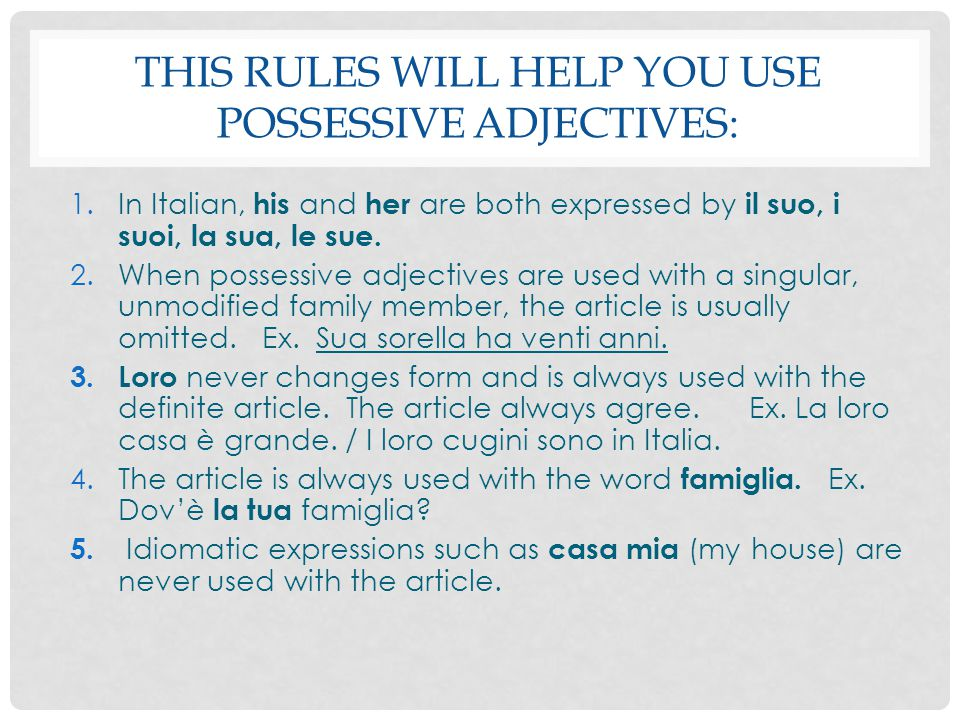 Rescribi il seguente paragrafo e descrivi la casa di Ricardo.