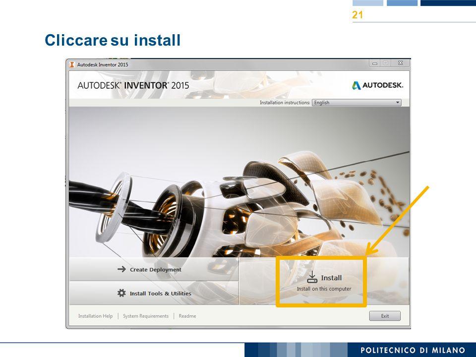 Cliccare su install 21