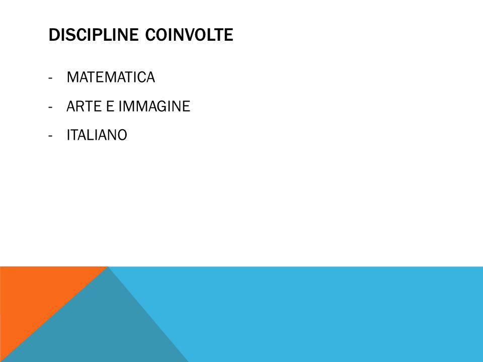 DISCIPLINE COINVOLTE -MATEMATICA -ARTE E IMMAGINE -ITALIANO