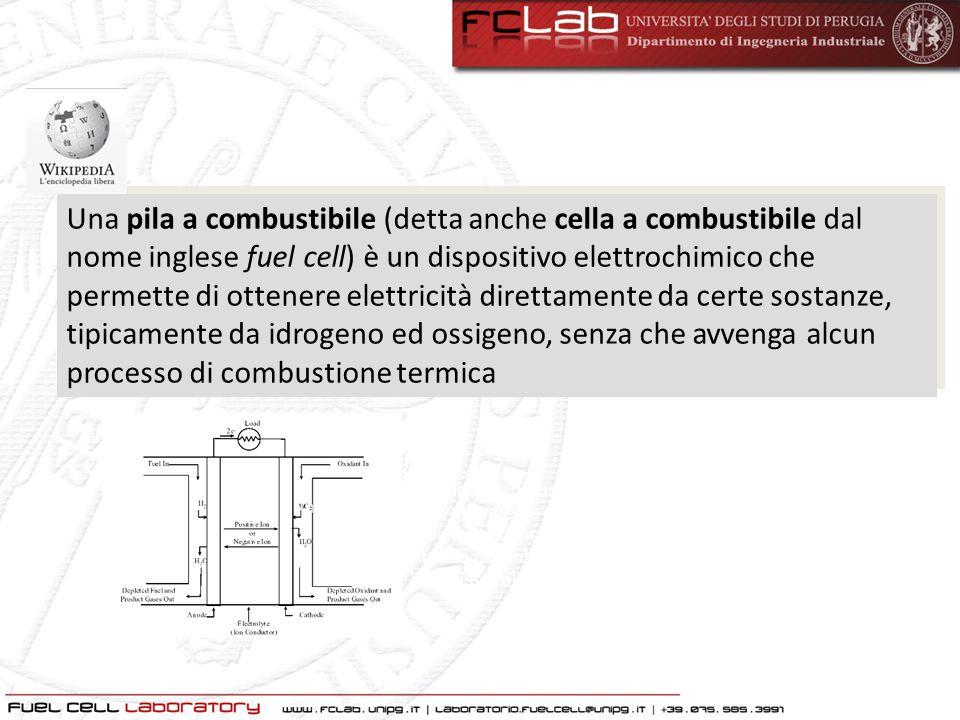 Una pila a combustibile (detta anche cella a combustibile dal nome inglese fuel cell) è un dispositivo elettrochimico che permette di ottenere elettri