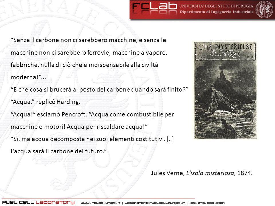 """Jules Verne, L'isola misteriosa, 1874. """"Senza il carbone non ci sarebbero macchine, e senza le macchine non ci sarebbero ferrovie, macchine a vapore,"""