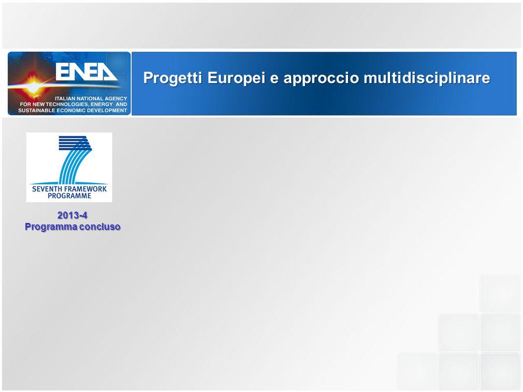 2013-4 Programma concluso Programma in avvio Programma in avvio - Prime calls primavera 2015 - Primi progetti autunno 2015 Progetti Europei e approccio multidisciplinare