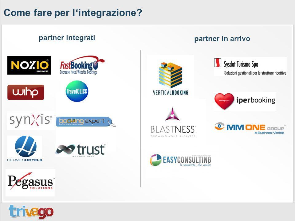 Come fare per l'integrazione? partner integrati partner in arrivo