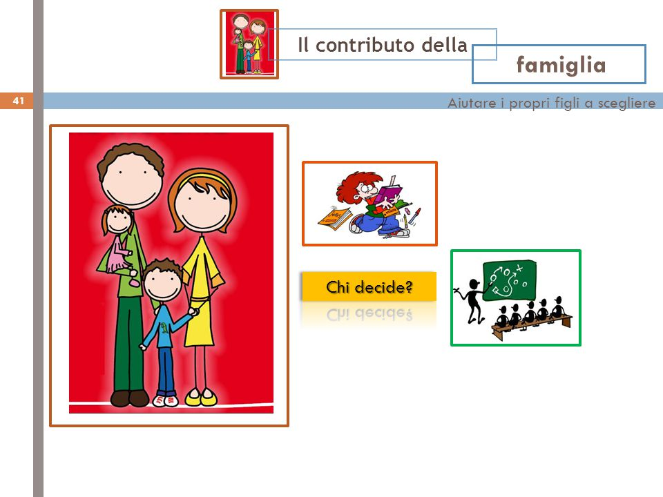 Aiutare i propri figli a scegliere famiglia Il contributo della 41