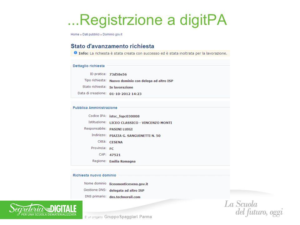 E' un progetto GruppoSpaggiari Parma...Registrzione a digitPA