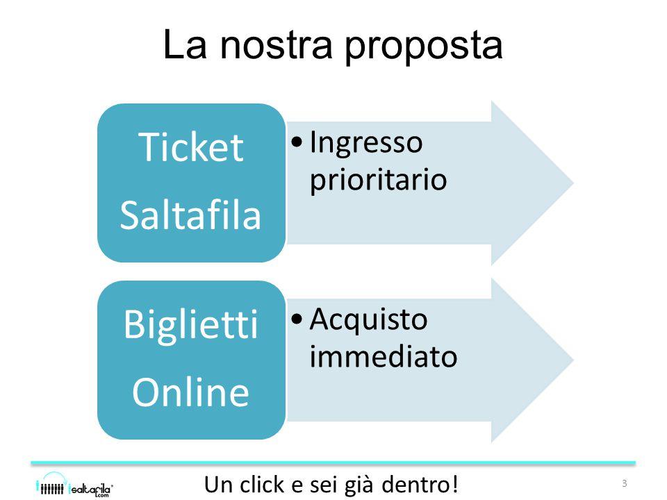 La nostra proposta 3 Un click e sei già dentro.
