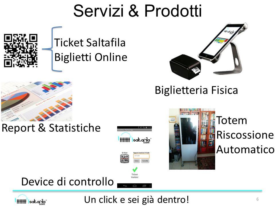 Servizi & Prodotti 6 Un click e sei già dentro.