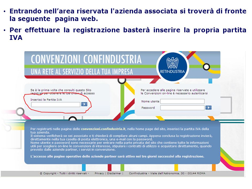 In automatico il registro imprese riconoscerà l'azienda come associata, dando un messaggio di benvenuto.
