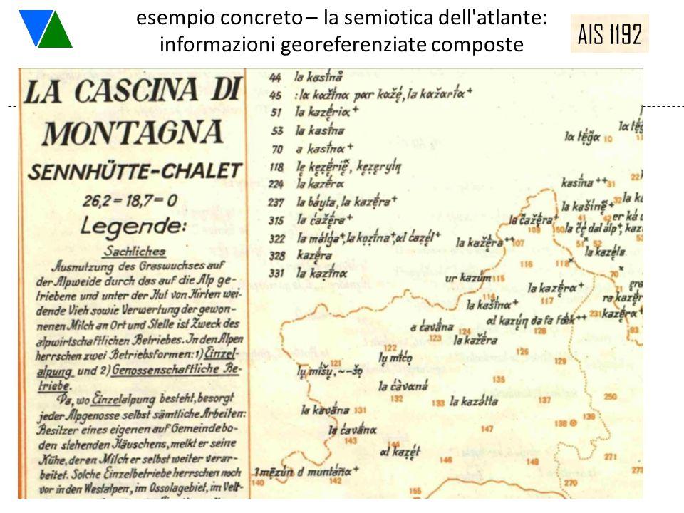 esempio concreto – la semiotica dell'atlante: informazioni georeferenziate composte AIS 1192