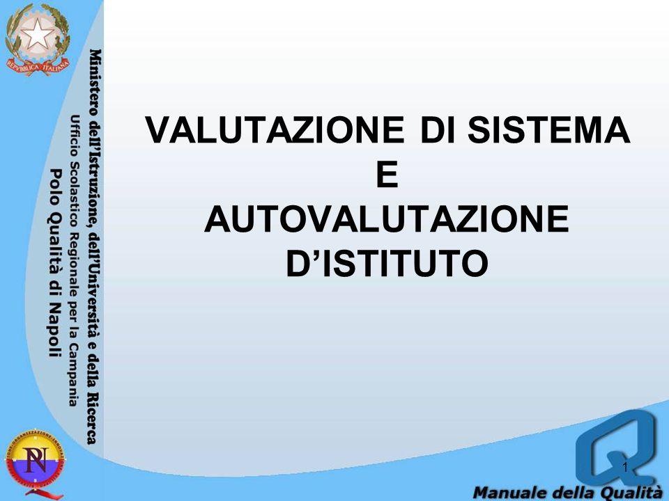 VALUTAZIONE DI SISTEMA E AUTOVALUTAZIONE D'ISTITUTO 1